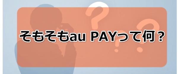 au PAYについて